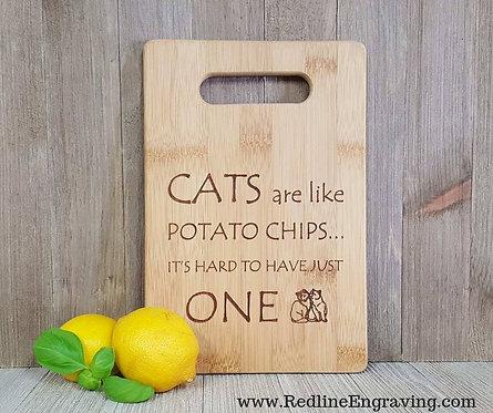 Cats - Bamboo Cutting Board