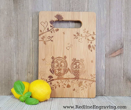 Lovely Owls - Bamboo Cutting Board