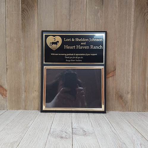 Matte Black Finish Photo Award Plaque-Choice of Metal Colors