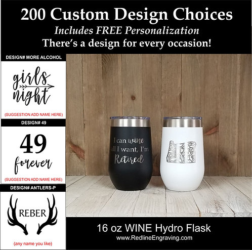 Custom 20 oz Hydro Flask-200 design choices.