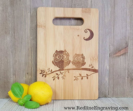 Night Owls Bamboo Cutting Board