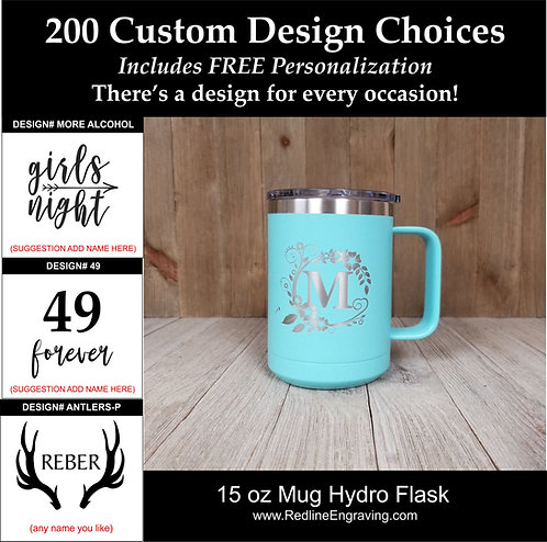 Custom 15 oz Hydro Flask-Mug-200 design choices.