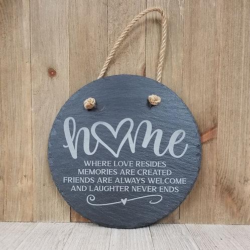 Home Slate Sign