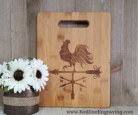Rooster Bamboo Cutting Board