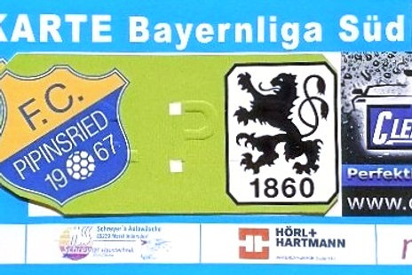 1 x VIP Ticket FCP : TSV 1860 Virtuell