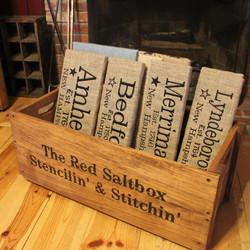 The Red Saltbox Stencilin' & Stitchi