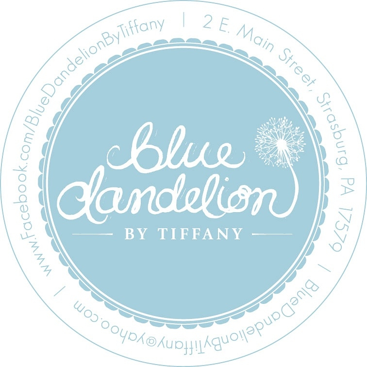 Blue Dandelion by Tiffany