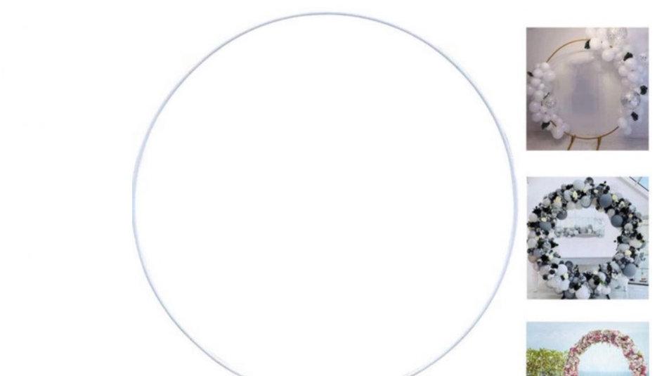 Arches mettalique rond blanc