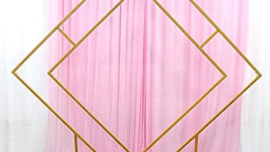 Arche metallique losange dorée