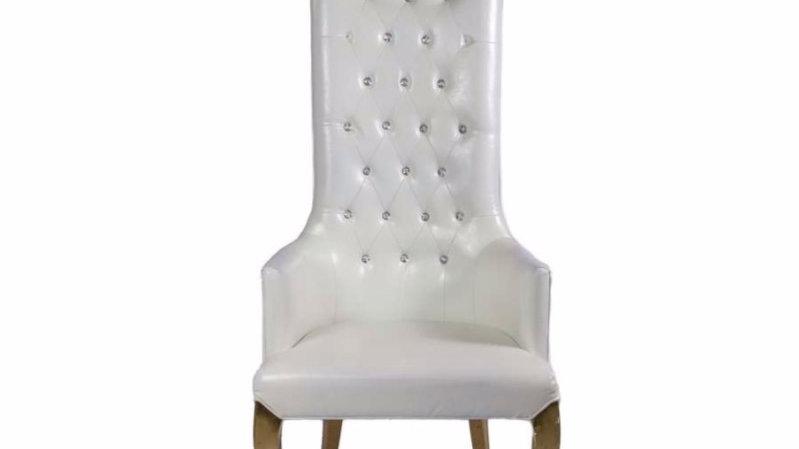 Chaise d'honneur capitonnée
