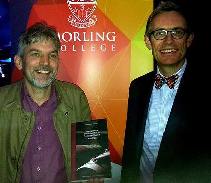 Rev Dr Ian Duncum with Rev Dr Darrell Jackson at launc
