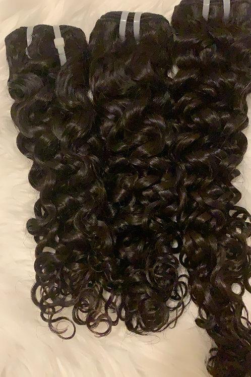 Dominican Doll Curl 3 bundle deal w/ 14 inch closure