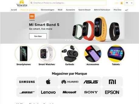 VesceraShop eCommerce Website