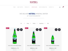 Sophia Water eCommerce Website