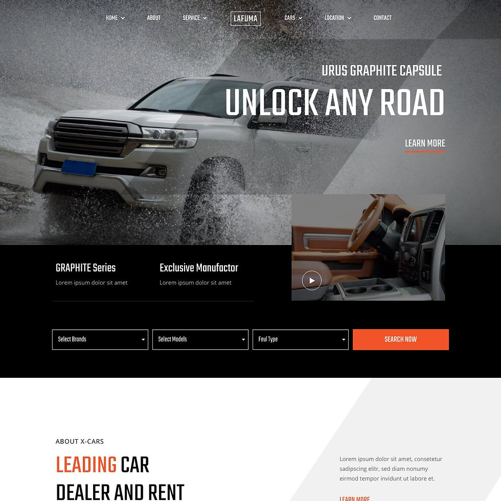 car showroom website