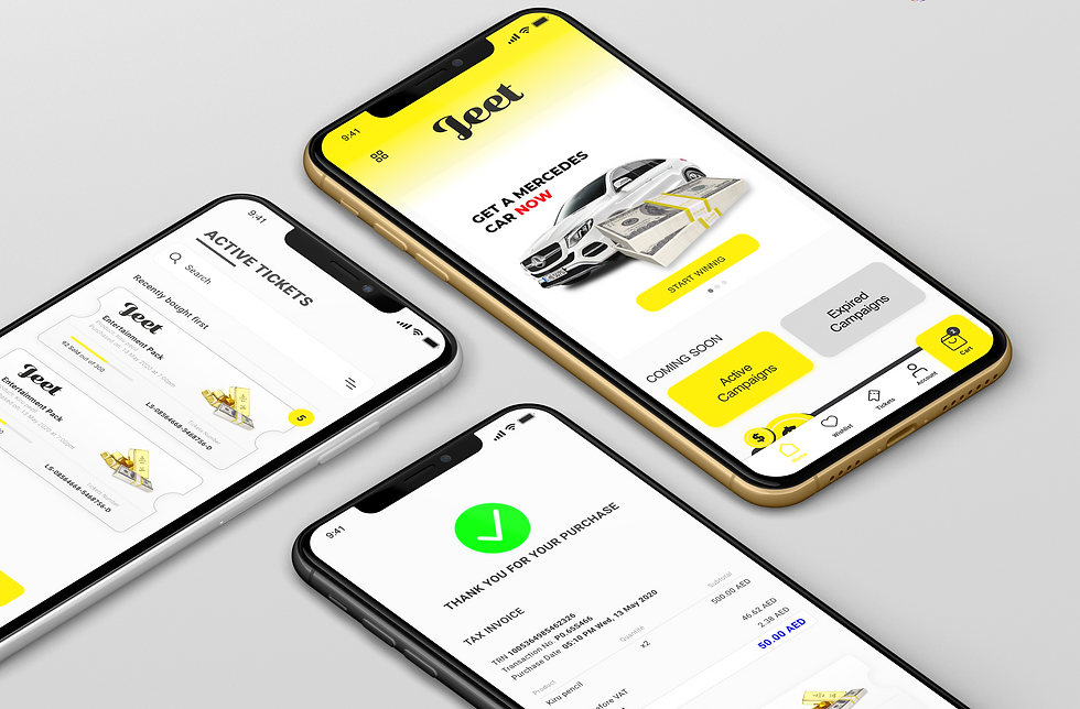 A mobile app done by ignte digital solutions