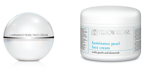 LUMINANCE PEARL FACE CREAM  30ml, 50ml retail, 125ml, 250ml, 500ml jars  Luxurious anti-ageing, firming and brightening face cream with Diamond fine powder and Pearl extract, suitable for all skin types. This precious moisturising lightweight formula smoothes wrinkles and expression lines, enhances elasticity, evens skin tone and improves skin radiance.  Contains brightening Pearl extract, fine Diamond powder to provide immediate skin lightness, special mixture of an innovative brightening Oligopeptide, Vitamin C (ethyl ascorbic acid) and Niacinamide (Vitamin B3) that fight discolourations, powerful antioxidant Enzymes from the fermentation of deep Ocean microorganisms (prevents the visible signs of photo-ageing, protects cell structures from UV damage and reinforces skin integrity), 'wrinkle-filler' Oligopeptide (Matrixyl synthé6 - stimulates the synthesis of 6 major constituents of the skin matrix and dermal-epidermal junction, smoothing wrinkles and fine lines from within)