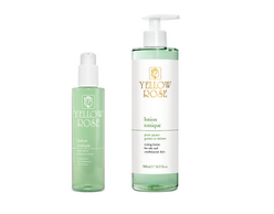 LOTION TONIQUE  200ml retail, 500ml bottles  Toning lotion with Cucumber extract and Allantoin. Ideal for normal and oily skin types. Complements the action of Yellow Rosecleansing milks.