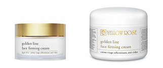 GOLDEN LINE – FACE FIRMING CREAM  30ml, 50ml retail, 125ml, 250ml, 500ml jars  A highly efficient and luxurious silky textured face cream for all skin types. This advanced anti-aging formula is based on silk proteins, Oligopeptides and marine collagen microspheres ('wrinkle-fillers'). Firms, tones and improves skin elasticity and helps reduce wrinkles, fine lines and other signs of ageing. On application, deep wrinkles are filled in. Day after day, wrinkles are visibly reduced and skin appears firm, delicate, silky smooth and luminous.  Contains marine Collagen microspheres ('wrinkle-fillers' that fill and smooth wrinkles and moisturise effectively the upper layers of the epidermis), Silk proteins (firming and moisturising properties), a mixture of Oligopeptides that activates the natural regeneration of extra-cellular matrix macromolecules (collagen, elastin, glycosaminoglycans) repairing and remodelling the skin tissue ('Retinol-like' effect), high and low molecular weight Hyaluronic