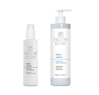 LOTION AZULENE  125ml, 200ml retail, 500ml bottles  Soothing lotion for dry and sensitive skin types. Complements the action of Yellow Rose cleansing milks. Alcohol free.  Contains Azulene (soothing agent derived fromChamomile), Vitamin E and Allantoin.