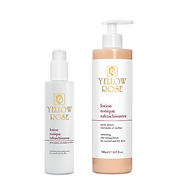 LOTION TONIQUE RAFRAICHISSANTE  200ml retail, 500ml bottles  Toning and refreshing lotion with Aloe Vera gel,Pomegranate extract, Vitamins (E and A) andLanolin. Suitable for normal and dry skin. Tones theskin leaving it refreshed and smooth.Can also be used for body care.