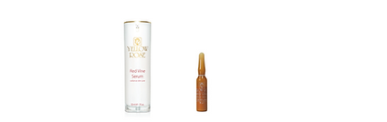 RED VINE SERUM  Box of 12 ampoules x 3ml, 30ml airless retail bottle  Special anti-wrinkle and revitalising emulsion that oxygenates and brightens the skin. This light-weight silky emulsionis based on Red Vine Leaf extract and the special anti-wrinkle PCO molecules (from Red Vine Grape Seeds) that bindfree radicals and tone the skin. Red Vine Serum protects and revitalises the skin while it helps reveal a more radiant andfresh looking complexion. Suitable for all skin types. Can be used daily as a 24h serum, alone or before other face careproducts. Can be combined effectively with the other Yellow Rose Red Vine products.  Also contains a special mixture of Soy protein and a specificCopper Tripeptide (free-radical scavengers that activatecellular metabolism and increase natural Collagen biosynthesis), bioactive Farnesol and Farnesol derivatives(contribute to the revitalisation and oxygenation of the cells and stimulate the natural biosynthesis of neo-collagen),lipophilic esters