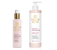 HYALURONIC CLEANSING MILK with Flower extracts  200ml retail, 500ml bottles  Moisturising and soothing cleansing milk specially formulated to cleanse thoroughly all skin types. Can be effectively combined with the other Yellow Rose Hyaluronic Face Care products.  Contains Hyaluronic acid (high molecular weight), moisturising, soothing and antioxidative Flower extracts (Japanese Cherry blossoms, Magnolia, French Roses, Indian Lotus), antioxidative Chinese White Tea extract,Arginine, Sorbitol, Sunflower oil and Allantoin.