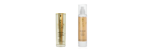 GOLDEN LINE FACE FIRMING SERUM  30ml retail, 100ml airless bottles  A luxurious, highly efficient firming, anti-wrinkle, and moisturising face serum for all skin types. Provides immediatewrinkle filling result and gradually helps fight wrinkles and fine lines. Leaves skin silky smooth, supple, radiant andrejuvenated. Can be used daily as 24h serum, alone or before other face care products. Can be combined effectivelywith the other Yellow Rose Golden Line Face Care products.  Contains rejuvenating 23 karat Gold, Silk proteins (firming, smoothing and moisturising), marine Collagen'wrinkle-fillers' (microspheres that fill and smoothes wrinkles and moisturise effectively the upper layers of theepidermis), a special anti-wrinkle mixture of Oligopeptides ('Retinol-like' and 'Botox-like' effects), high and low molecularweight Hyaluronic acid (highly efficient moisturiser), special botanical complex of Chamomile, Wild Rose andBearberry extracts (soothing, calming