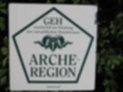 Schild GEH - Arche-Region