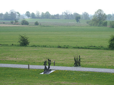 View over the meadows of the Elbe Marsch