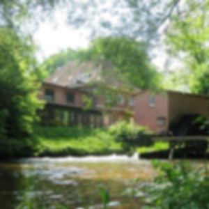 Horster Mühle, Mühlen in schöner landschaft entlang der Elbe