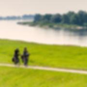 Radfahren auf dem Elberadweg, Urlaub in der Natur, bei einer radtour an der Elbe die Natur und Landschaft geniessen.
