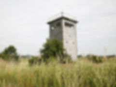 Border tower in the nature reserve area and biosphere reserve