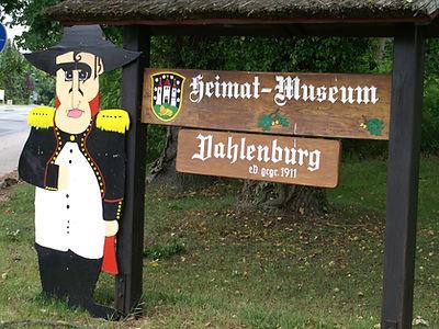 Dahlenburg Local History Museum sign
