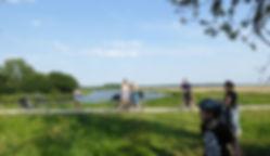 Mit dem Fahrrad oder zu Fuß mit dem Bibertrail die Landschaft entlang der Elbe erkunden, einen Tag lan Urlaub in der Natur