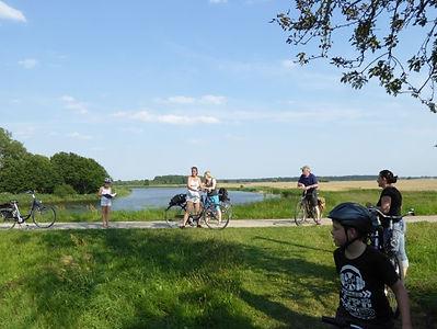Fahrradfahrer beim Bibertrail