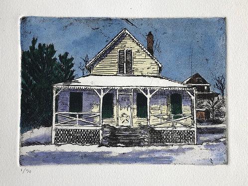 Summer Cottage in Winter