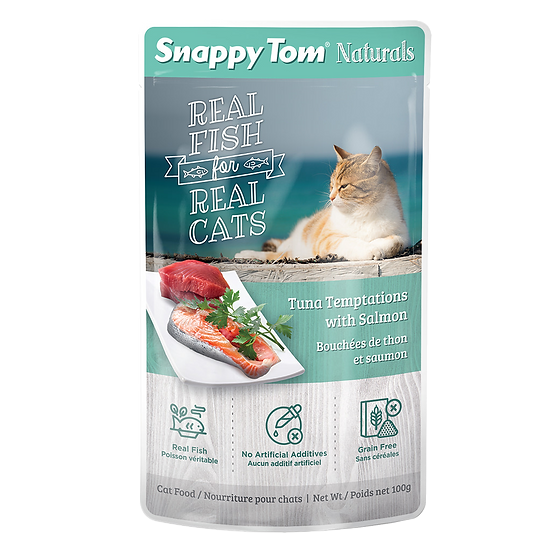 Snappy Tom Naturals Tuna Temptations with Salmon