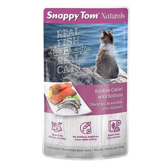 Snappy Tom Naturals Sardine Cutlet with Salmon