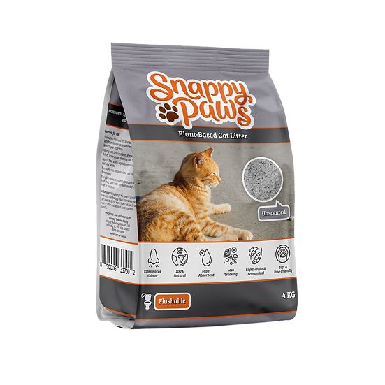 (Retail) Snappy Paws Plant Based Cat Litter  (Unscented)