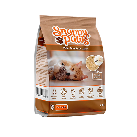 (Retail) Snappy Paws Plant Based Cat Litter  (Vanilla)