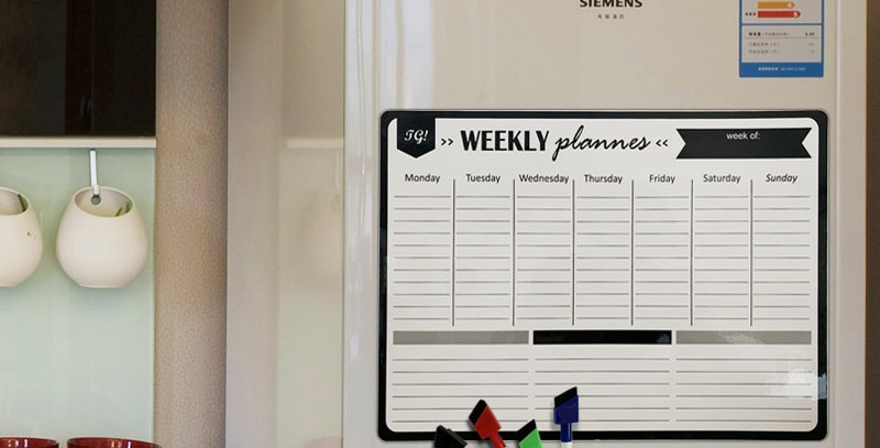 A3 Magnetic Weekly & Monthly Planner Whiteboard