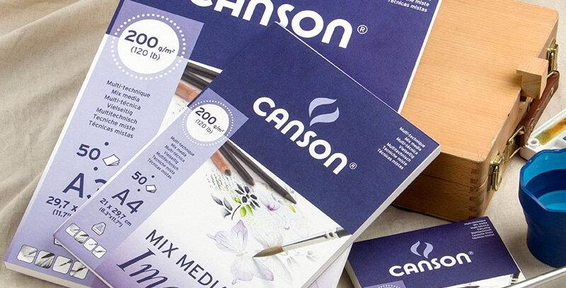 A4 A5 Canson Imagine Mixed Media Art Paper 200g