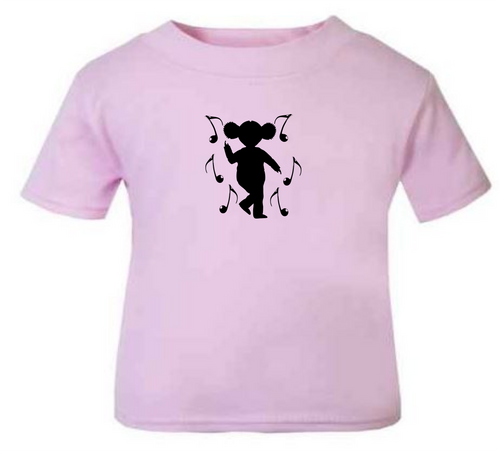 66311d81b636 Child s T-Shirt Ethnic dancing girl pink by the little baby boutique ...