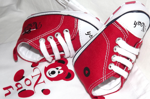 5d45fdfcdc32 ... babies personalised converse style pre walker cot shoes side The Little  Baby Boutique