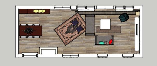 plattegrond woonkamer