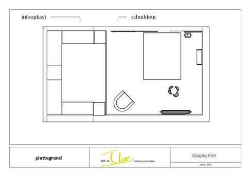 2D indeling interieurontwerp