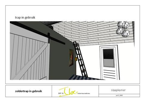 ontwerp trap in gebruik