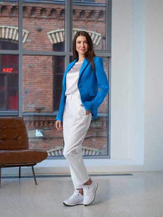 Женский лазурный пиджак 2001