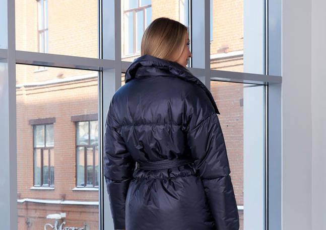 Куртка двубортная, синего цвета
